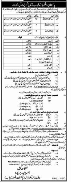 Jobs in Punjab Rangers 2020