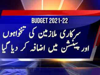 Government Employees Salary Increase Budget 2020-21 Pakistan