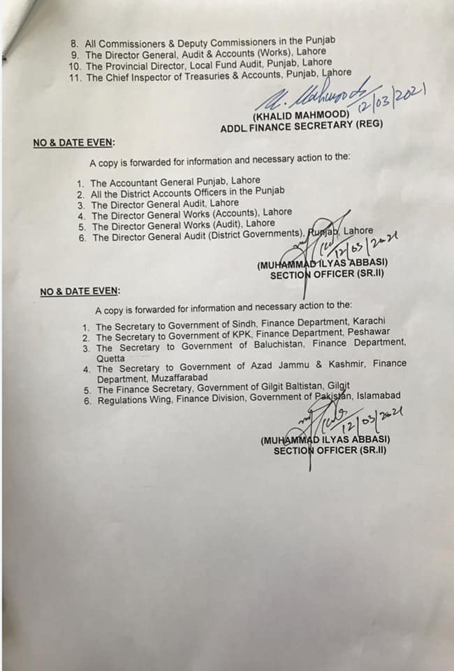 Notification of Amendments in Revised Leave Rules 1981