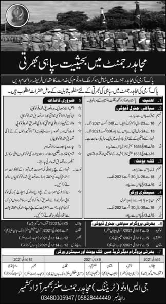 Join Pak Army As Clerk Driver Sepoy 2021
