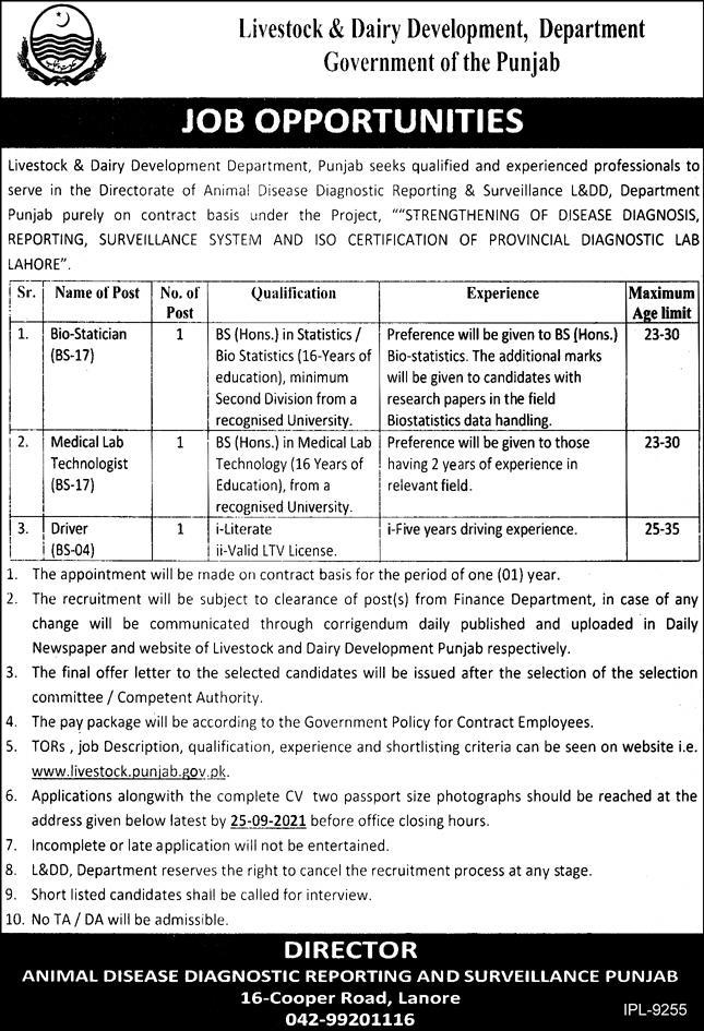 Announcement of Jobs in Livestock & Dairy Development DeparAnnouncement of Jobs in Livestock & Dairy Development DeparAnnouncement of Jobs in Livestock & Dairy Development Department 2021tment 2021ent 2021
